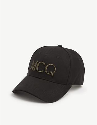 McQ Logo-embroidered cotton cap