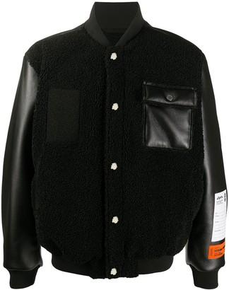 Heron Preston Panelled Baseball Jacket