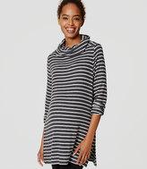 LOFT Maternity Striped Cowl Neck Tunic