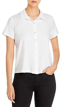 Eileen Fisher Classic Knit Button Front Top