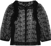Simone Rocha Ruffled embroidered tulle blouse
