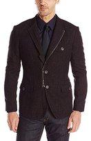 John Varvatos Men's Soft Jacket with Front Zip