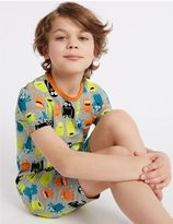 Marks and Spencer All Over Print Short Pyjamas (1-16 Years)