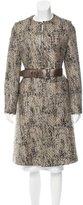 Alexander McQueen Belted Tweed Coat