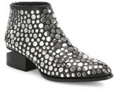 Alexander Wang Kori Tilt-Heel Studded Leather Oxford Booties