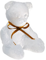 Daum White Teddy Bear Sculpture