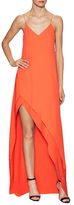 Narciso Rodriguez Crepe Bias Asymmetrical Maxi Dress