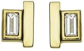 Jemma Wynne Diamond and Bar Studs - Yellow Gold