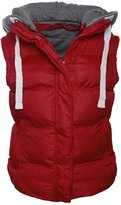 Chaos Theory Women's Sleeveless Gilet Bodywarmer Vest Quilted Hooded Jacket - US 4
