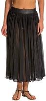 Carmen Marc Valvo Classic Dimension Chiffon Pleated Maxi Skirt 8131689
