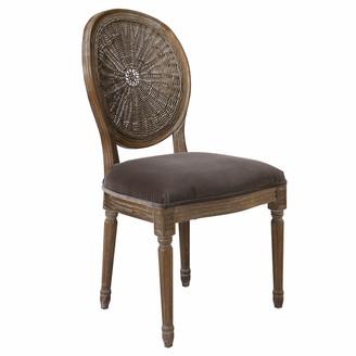OKA Washakie Velvet Chair - Truffle