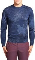 Etro Leaf Print Wool-Blend Sweater