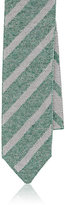 Isaia MEN'S STRIPED KNIT COTTON SKINNY NECKTIE
