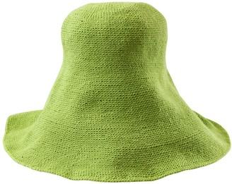 Bloom Crochet Sun Hat In Lime Green