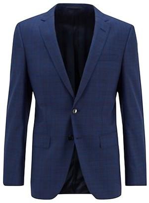 HUGO BOSS Slim-Fit Huge 6 Windowpane Suit Jacket
