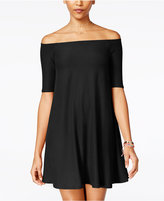 Planet Gold Juniors' Off-The-Shoulder Shift Dress