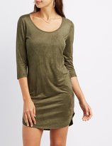 Charlotte Russe Faux Suede Bodycon Dress
