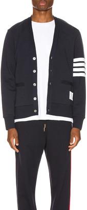 Thom Browne Jersey Cardigan in Navy | FWRD