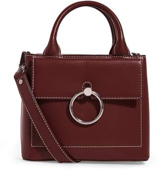 Claudie Pierlot Small Leather Saddle Stitch Bag