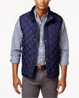 Club Room Men's Big and Tall Zip and Snap Quilted Vest, Only at Macy's