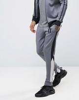 11 Degrees Poly Skinny Joggers In Grey