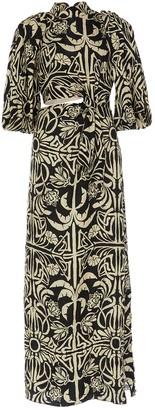Johanna Ortiz Tropical Mola Silk Maxi Dress