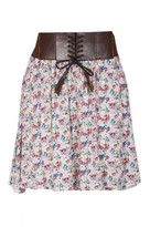 Select Fashion Fashion Womens White Summer Floral Corset Mini - size 8