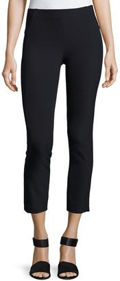 Veronica Beard Zip-Back Scuba Leggings