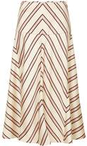 Fendi striped printed skirt