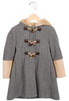 Il Gufo Girls' Wool Hooded Coat
