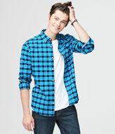 Long Sleeve Check Stretch Oxford Woven Shirt