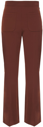 Sandro Bloone Stretch-crepe Flared Pants