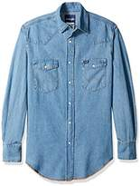 Wrangler Men's Motorcycle Denim Blue Shirt