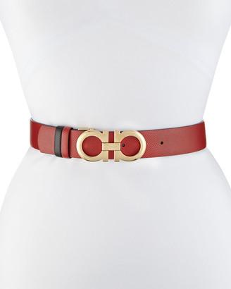 Salvatore Ferragamo Gancini-Buckle Reversible Leather Belt