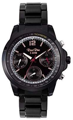 Ross Rino Sport Unisex Quartz Watch with Black Dial Analogue Display and Black Stainless Steel Bracelet