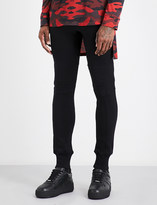 Balmain Biker cotton-jersey jogging bottoms