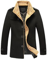Win8Fong Men's Coats Lambs Wool Men's Clothing Woolen Cloth Coat (, L)