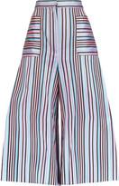 Natasha Zinko Striped jacquard culottes