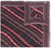 Faliero Sarti patterned raw edge scarf