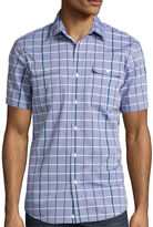Claiborne Short-Sleeve Slim-Fit Woven Shirt