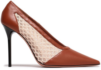 Altuzarra Peppino Mesh And Leather Pumps