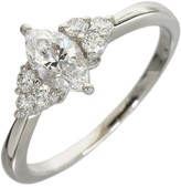 Mikimoto Platinum 0.66 Ct Marquise Cut Diamond Ring Size 6.5