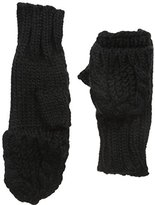 Rampage Women's Cable Knit Pop Top Glove, Black, One Size