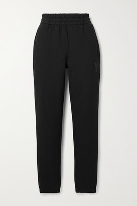 alexanderwang.t Printed Cotton-blend Jersey Track Pants - Black