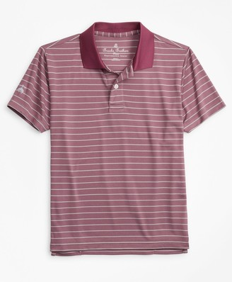 Brooks Brothers Boys Performance Series Bird's-Eye Stripe Polo Shirt