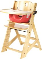 Keekaroo Height Right Highchair with Insert & Tray - Cherry - Natural Base