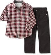 Calvin Klein Baby Boys' 2-Pk. Plaid Shirt & Pants Set