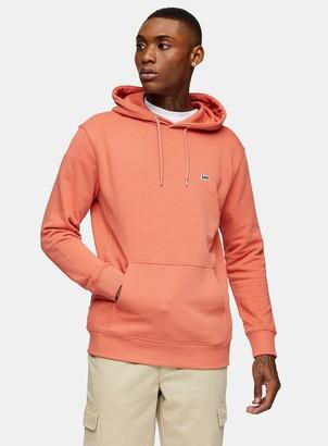 Topman LEE Orange Plain Hoodie