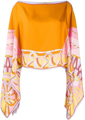 Emilio Pucci Draped Cape Blouse