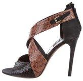 Derek Lam Python Crossover Sandals